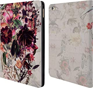 Official Ali Gulec Skull Light Isolated Floral Leather Book Wallet Case Cover Compatible for iPad Air 2 (2014)
