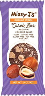 Missy J's Hazelnut Crunch Carob Candy Bars - 2.1 Ounces (Pack of 3)