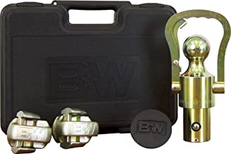 TruckProUSA B&W GNXA2061 OEM Puck System Gooseneck Ball & Safety Chain Kit for GM, Ford, Nissan