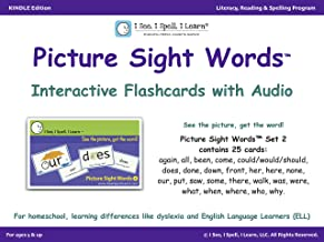Picture Sight Words™ Flashcards with Audio - Set 2: I See, I Spell, I Learn® - Literacy, Reading & Spelling Program