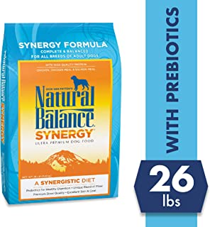 Natural Balance Synergy Ultra Premium Dry Dog Food, Chicken, Chicken Meal & Salmon Meal, with Prebiotics