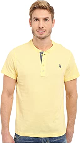 Slim Fit Textured Henley T-Shirt