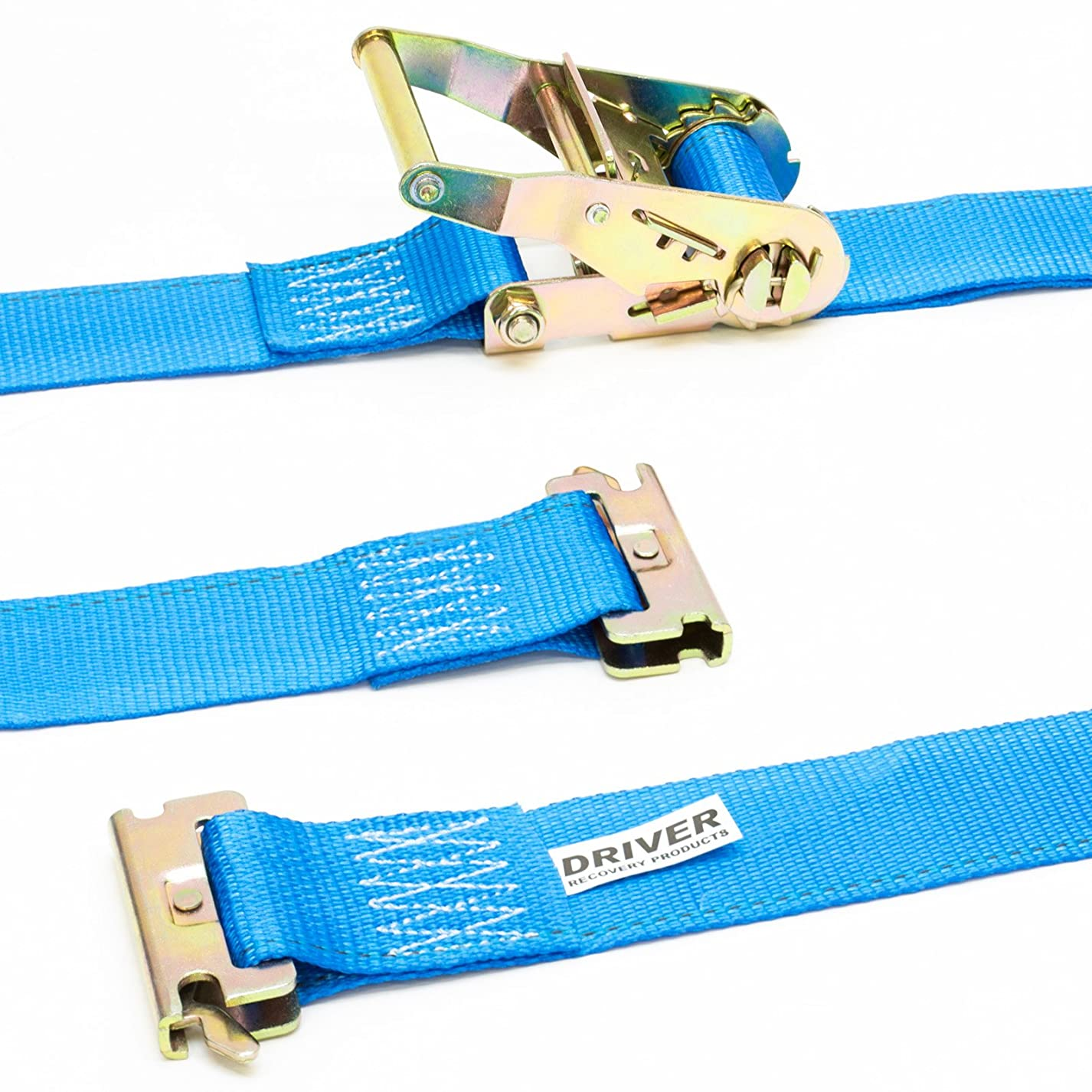 Driver Recovery 2 ETrack Ratchet Tie-Down Straps - 2