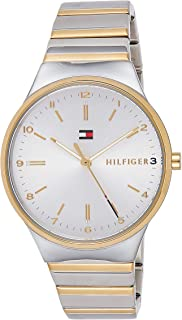 Tommy Hilfiger Women's Analog Quartz Watch With Gold-Tone-Stainless-Steel Strap 1781800, Silver Band