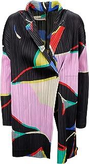 PLEATS PLEASE ISSEY MIYAKE Luxury Fashion Womens PP98JA67315 Black Coat | Fall Winter 19