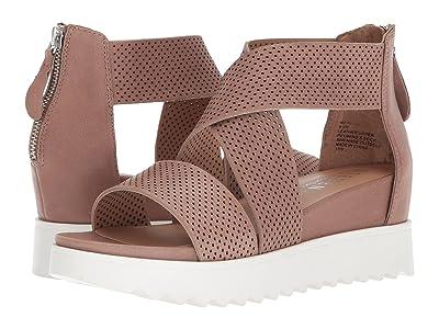 STEVEN NEW YORK NC-Klein Wedge Sandal (Tan Leather) Women