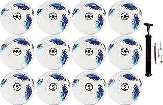 12 Pack - Premium Digital Soccer Ball Size 5 Bulk Wholesale with Pump
