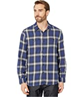 Spirit In The Sky Bowery Checks Cotton Blend Long Sleeve Two-Pocket Shirt