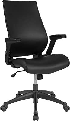 Flash Furniture High Back Black LeatherSoft Executive Swivel Office Chair with Molded Foam Seat and Adjustable Arms