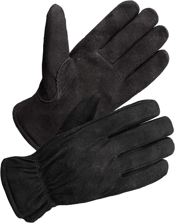 SKYDEER 3M Thinsulate Thermal Winter Work Gloves with Windproof Premium Genuine Deerskin Suede Leather (Unisex)