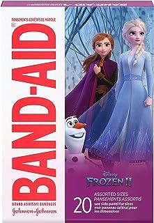 باند باند مخصوص چسب باند بچه ها با نام تجاری Band Aid برای خرد و خرده های کوچک ، دیزنی منجمد ، اندازه های مختلف ، 20 سی تی ، (بسته 6)