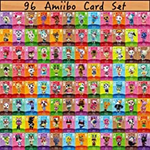$60 » 96PCS Most Popular Animal Villagers Mini Cards for ACNH New Horizons, Compatible with Switch/Switch Lite/Wii U Marshal Mer...