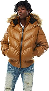 Smoke Rise PU Puffer with Fur Trimmed Hood(JJ9083)