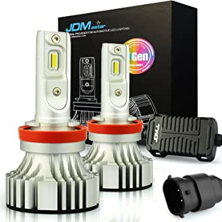 JDM ASTAR No Dark Spot Design 8000 Lumens Extremely Bright H11 H9 H8 White LED Bulbs