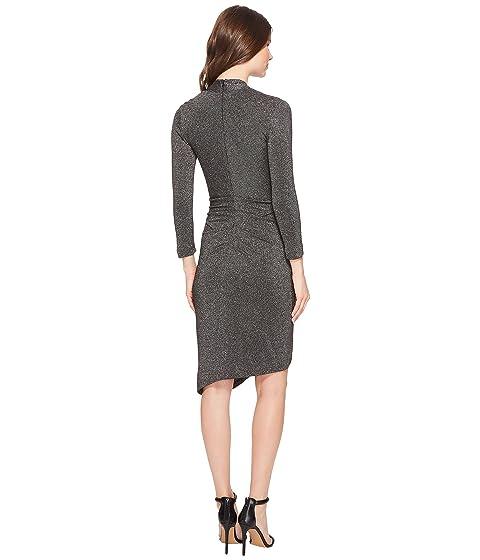 Dress Glitz Neck Asymmetrical Miller V Nicole Silver gAOwqSEYO