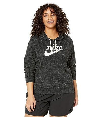 Nike Plus Size NSW Gym Vintage Hoodie HBR (Black/Sail) Women