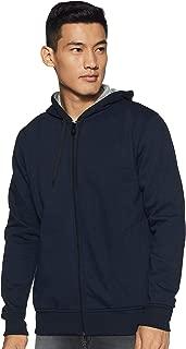 WOKNIT Men's Hooded Zipper Full Sleeve Navy Sweatshirt