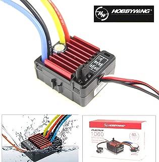 SoloGood HobbyWing QuicRun 1/10 Waterproof Brushed 60A Electronic Speed Controller RC Car Waterproof ESC 1060 …
