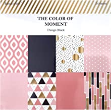 Besecraft 5.9x5.9 inches Designer Cardstock Paper Pad for Crafting, Paper Pads Scrapbooking, Multi-Colored and Foil, 8 Designs 24 Sheets, for Origami, Decopage, Decorative Gift Wrapping, Book Covers