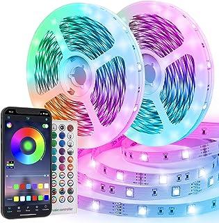 Ruban LED 20M RGB 600 LEDs Bande LED Multicolore App Contrôle, Led Ruban avec Télécommande à 40 Touches, Synchroniser avec...