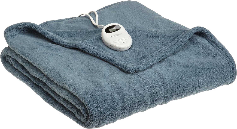 Sleepwarmer Japan Maker New Automatic Twin Blanket Blue Steel OFFicial shop
