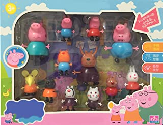 Family 12 set Peppa and Pig Friends model Toys