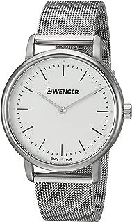Wenger Women's Urban Classic Swiss-Quartz Stainless-Steel Strap, Silver, 17.4 Casual Watch (Model: 01.1721.111)