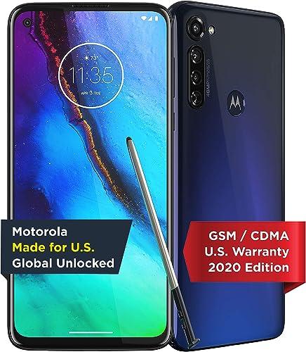 Moto G Stylus | Unlocked | Made for US by Motorola | 4/128GB | 48MP Camera | 2020 | Indigo