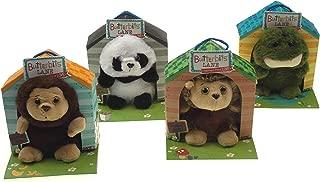 Hickoryville Plush Stuffed Animal Bundle - Prickles Hedgehog, Chestnut Monkey, Wellie Frog & Jade Panda - 5 inch