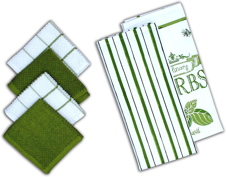 AMOUR New sales 5 ☆ popular INFINI Herb Garden 6 Pack Decorative 2 Set Kitchen Kitch
