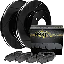 Ram 3500 Front  Drill Slot Brake Rotors+Ceramic Brake Pads Fit Dodge Ram 2500
