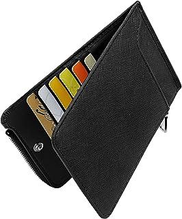 Huztencor Womens Leather Credit Card Holder Wallet RFID Blocking Wallet Women Card Case Purse