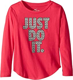 Crystal Just Do It Modern Long Sleeve Tee (Toddler)