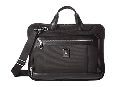 Travelpro Platinum(r) Elite Slim Business Brief (Shadow Black) Briefcase Bags