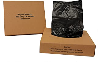 Originalpetbags 400 Black Unscented Easy Open & Easy-tie Handle. Large 15