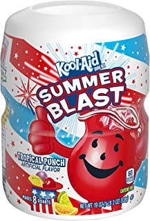 Kool Aid Tropical Punch Drink Mix (19 oz Canister, Pack of 12)