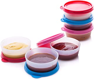 Reusable Plastic Food Storage Containers - Stackable Airtight Food Containers for Snacks, Picnics, Food Prep, Picnics and ...