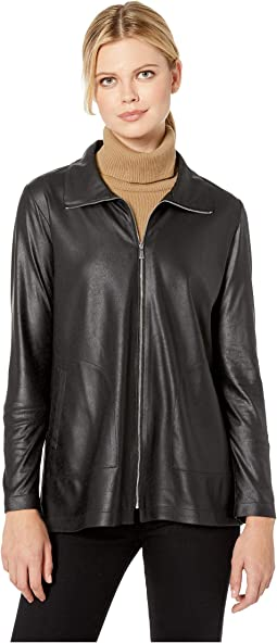 Zip-Up Jacket with Pockets