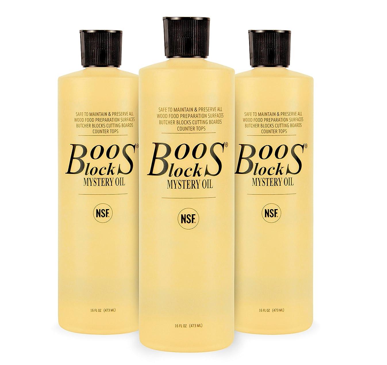 John Boos Block MYS-3 Mystery Butcher Block Oil, 16 Ounce Bottles, 3 Pack