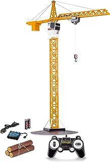 Carson 500907301 1:20 Tower Crane 2.4G 100% RTR, zdalnie sterowany dźwig, pojazd budowlany z funkcjami, w tym baterie i pi...