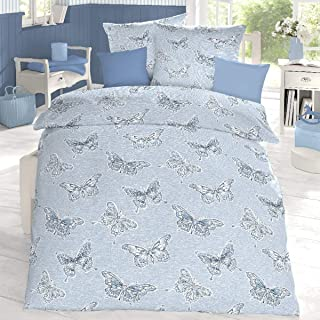 Bettwäsche 135x200 Baumwolle Mako-Satin Kissenbezug Bettbezug Schlafgut Select