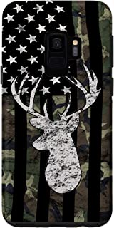 Galaxy S9 Whitetail Buck Deer Hunting American Camouflage USA Flag Case