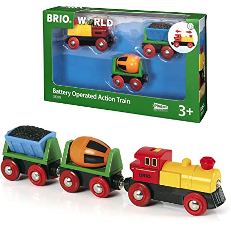 BRIO World Battery Operated Action Train for Kids Age 3 Years Up - Compatible with all BRIO Railway Sets & Accessories