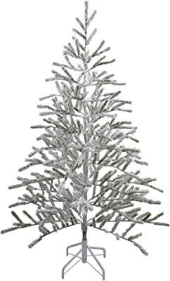Northlight Frosted Flocked and Iced Christmas Trees, White
