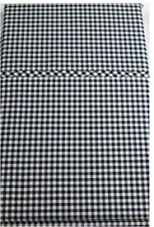 Set of 2 Ralph Lauren Classic Gingham/Polo Navy Standard Pillow Cases- -100% Premium Cotton-