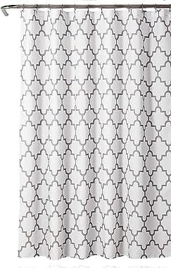 "Lush Decor Gray Bellagio Fabric Shower Curtain, Bathroom Accessories (72"" x 72"")"