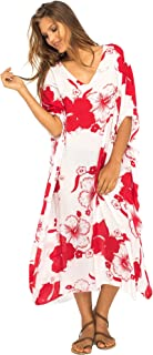 Back From Bali Womens Maxi Swimwear Cover up, Floral Beach Dress for Bikini Swimsuit with Sequins