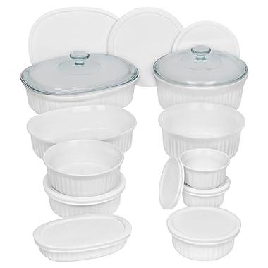 CorningWare French White Bakeware Set (20-Piece, White)