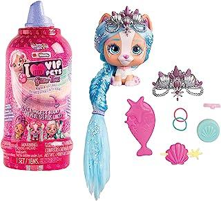 IMC Toys VIP Pets Surprise Hair Reveal - سری 2 پیچ و تاب و براق - سبک های ممکن است متفاوت باشد ، صورتی