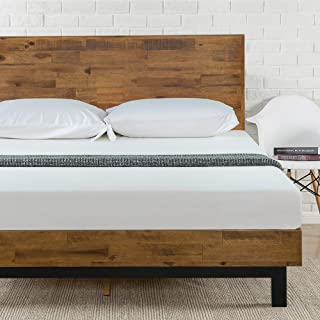 Zinus Tricia Platform Bed, King, Brown